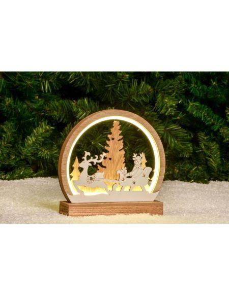 Décor de Noël rond avec Tube Néon - H22 cm