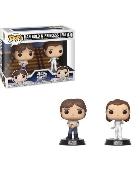 Figurine Funko Pop! Star Wars: ESB- 2PK Han & Leia