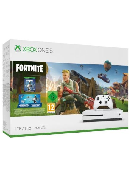 Pack Xbox One S 1to Blanche + Fortnite (telechargement)