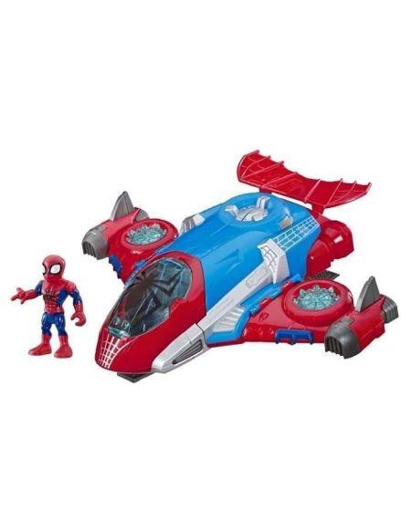 Marvel Spider-Man Playskool Super Hero Adventures – Jet QG Spider-Man et figurine 12,5 cm