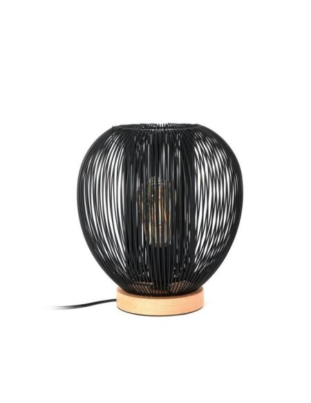 THE HOME DECO LIGHT Lampe à poser LA12048 boule filaire - Noir M4