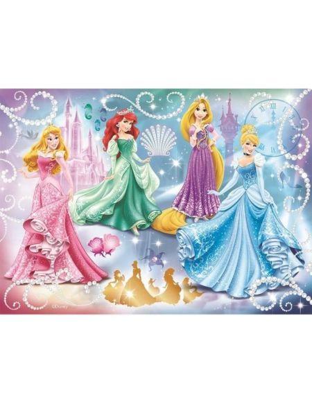 Puzzle 100 p - princesses étincelantes / princesses disney