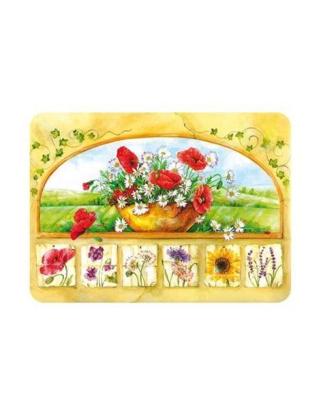 Planche à découper Bouquet - 40 x 30 cm - vitrocéramique