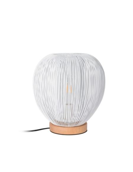 THE HOME DECO LIGHT Lampe à poser LA12050 boule filaire - Blanc M4