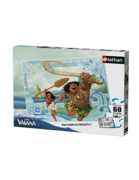 Puzzle 60 pièces Disney Vaiana et Maui avec trieur de pièces NATHAN - 6 ans et +
