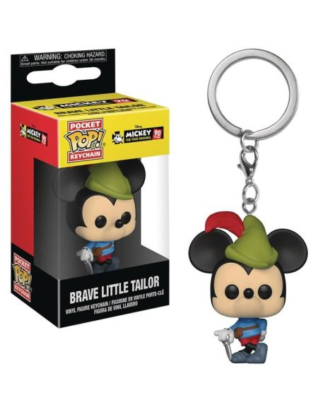 Porte-clé Funko Pocket Pop! Disney - Mickey: Brave Little Tailor