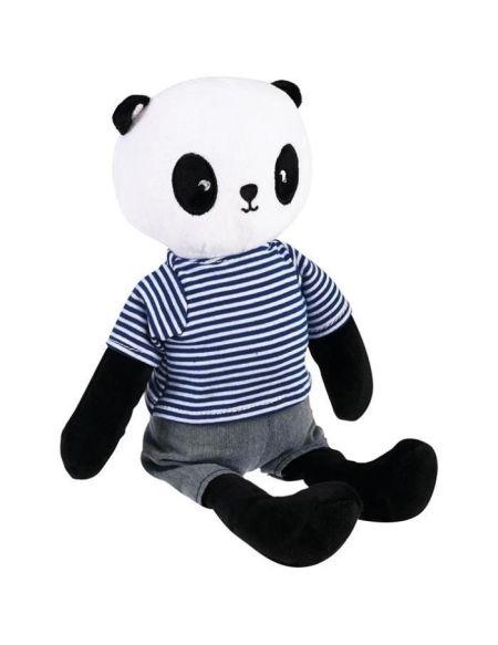 REX LONDON Peluche Jamie le panda - 35 x 20 cm - Gris