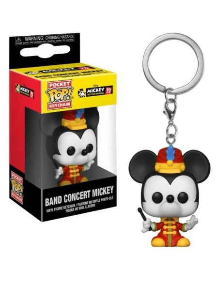 Porte-clé Funko Pocket Pop! Disney - Mickey: Band Concert Mikey