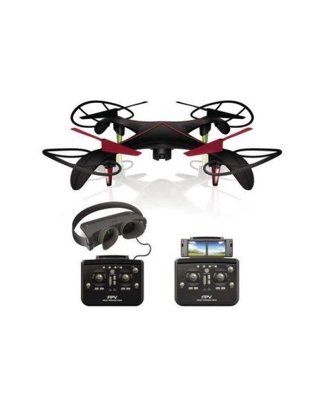 SILVERLIT - Drone Télécommandé Noir avec Caméra- Blacksior FPV Pilotage en immersion - 40 cm - Masque FPV vidéo en temps réel