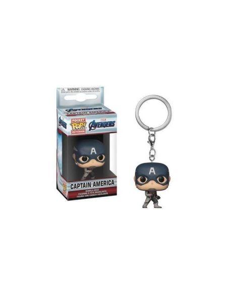 Porte-clés Funko Pocket Pop! Marvel : Endgame - Captain America (TS)