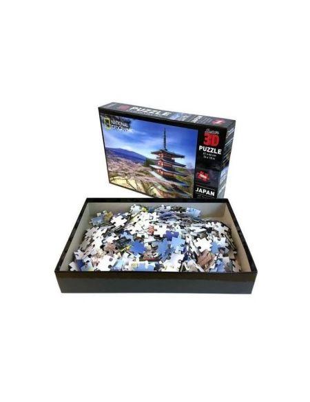 "RIVIERA GAMES Puzzle 3D en relief ""National Geographic Tokyo"" 500 pièces"
