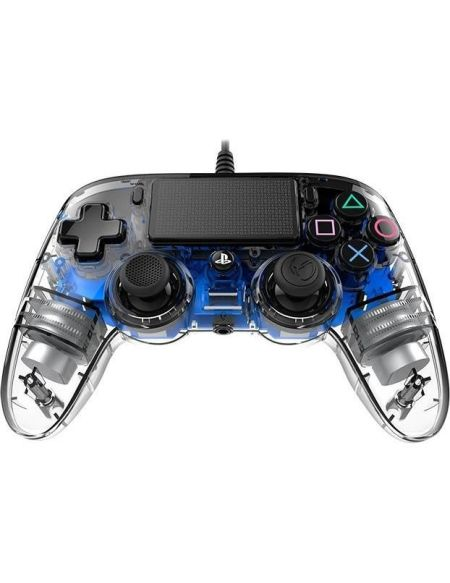 Manette filaire NACON lumineuse bleue pour Playstation 4