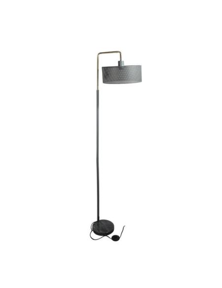 THE HOME DECO LIGHT Lampadaire moderne perforé LA12058 - Gris socle marbre M2