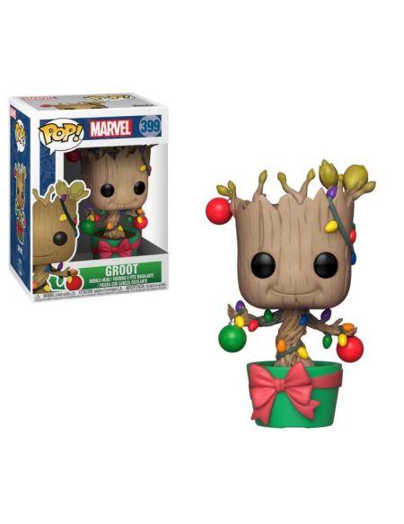 Figurine Funko Pop! Marvel: Holiday Groot (avec lumières et ornements)
