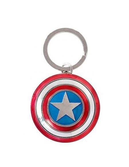 Porte Clé Avengers 2 Captain America Bouclier Metallique