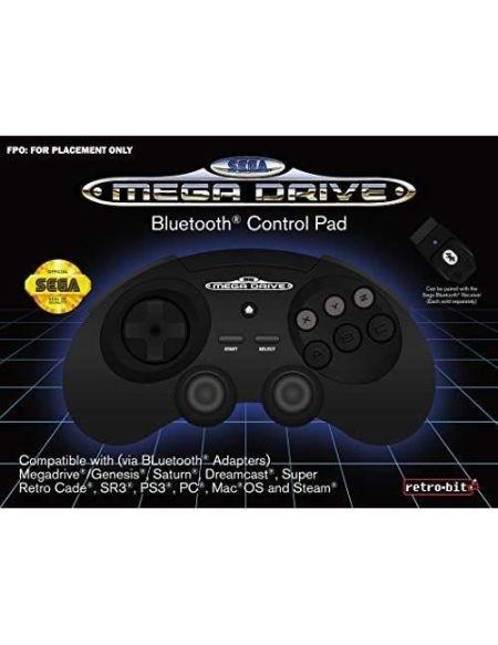 Manette filaire noire Retrobit SEGA Mega Drive Connexion d'origine