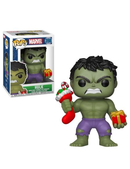 FUNKO POP Marvel : Holiday - Hulk w/ Stocking & Plush
