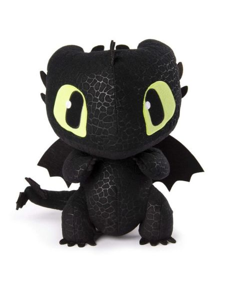 DRAGONS 3 Peluche Deluxe Sonore Krokmou - 25 cm