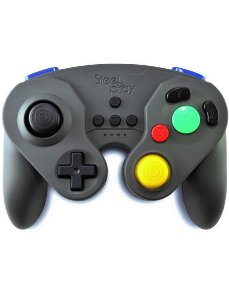Manette Neo Retro Pad Sans Fil Steelplay Grise pour Switch