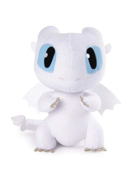 DRAGONS 3 Peluche Deluxe Sonore Lightfury - 25 cm