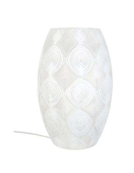 Lampe à poser décorative Pow-How E27 60W blanc