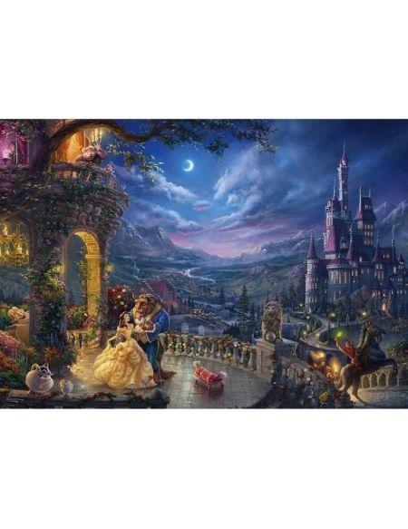 DISNEY Puzzle La belle et la bête Danse au clair de la lune - 1000 pièces