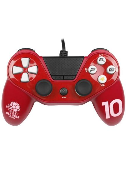Manette pour PS4 / PS3 / PC - PRO4 Wired Football - Rouge - SUBSONIC