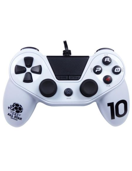 Manette pour PS4 / PS3 / PC - PRO4 Wired Football - Blanc - SUBSONIC