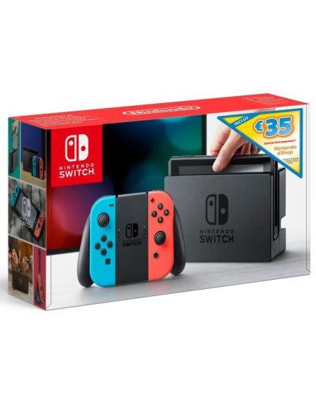Nintendo Switch + Joy-con néon et 35 Carte eShop