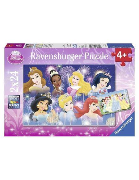Puzzle Princesses réunies Disney - 2 x 24 pièces