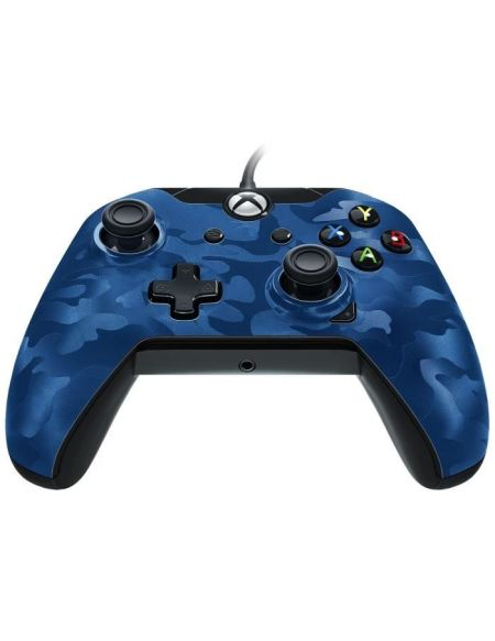 PDP Afterglow Manette Filaire Xbox One Camo Bleue