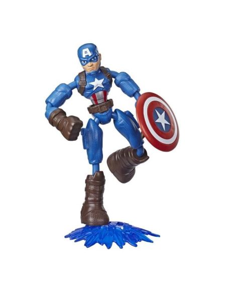 Marvel Avengers – Figurine Captain America Bend & Flex – 15 cm