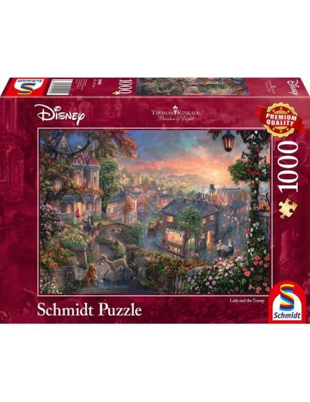 DISNEY Puzzle Lady and the Tramp - 1000 pièces