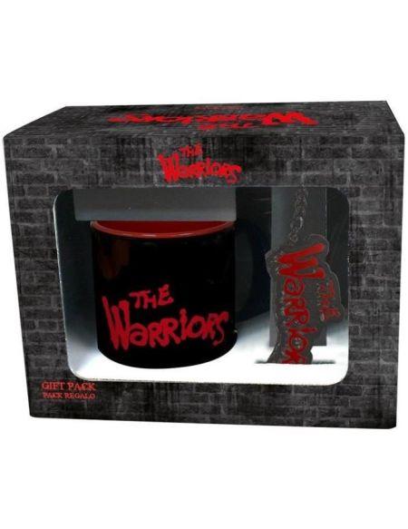 Pack cadeau The Warriors : mug + porte clé - Noir et Rouge