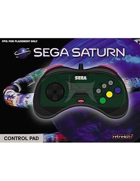 Manette filaire grise Retrobit SEGA Saturn 8 boutons Connexion d'origine