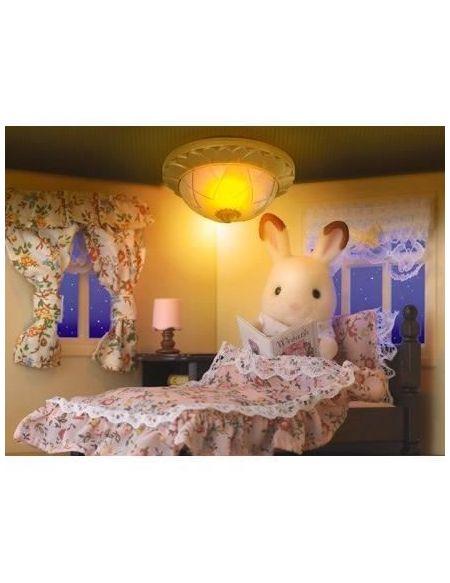 SYLVANIAN FAMILIES Home 4268 Set Déco Intérieure, Lampe Et Rideaux, Multicolore, Norme
