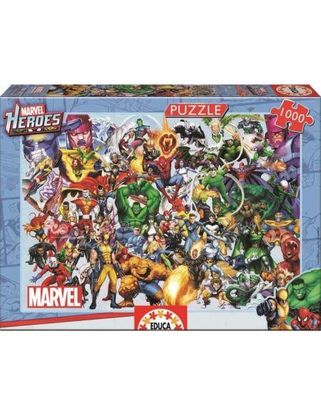 MARVEL Puzzle 1000 Pièces - Collage Des Heros Marvel