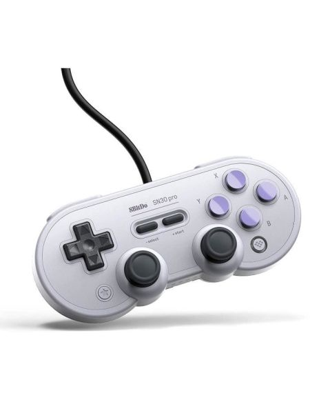 Manette Gamepad filaire grise 8Bitdo SN30 Pro SN Edition pour Switch
