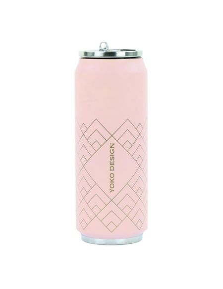 YOKO DESIGN Canette isotherme Art déco - Rose - 500 ml