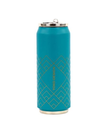 YOKO DESIGN Canette isotherme Art déco - Bleu canard - 500 ml