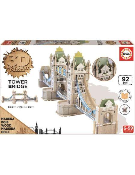 EDUCA Puzzle 3D Monument - Puzzle Tower Bridge