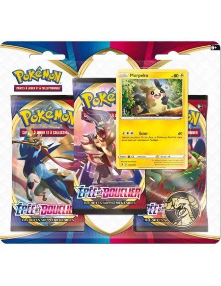 POKEMON Epée & Bouclier 1 - Pack 3 boosters (30 cartes Pokémon) - Modèle aléatoire