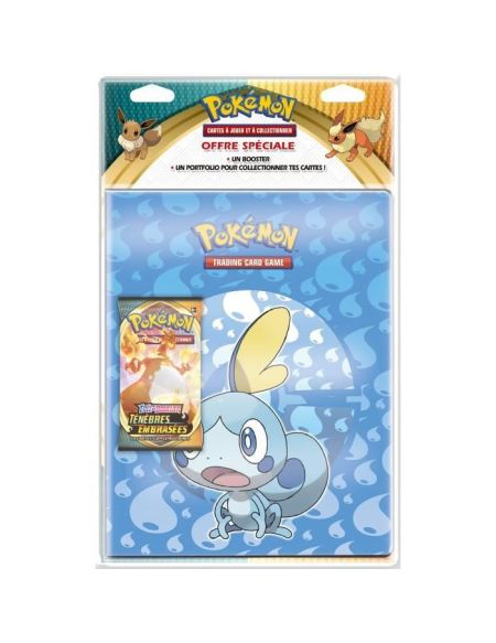 Pack Cahier Range Cartes Booster - Pokemon - Epee et Bouclier 3