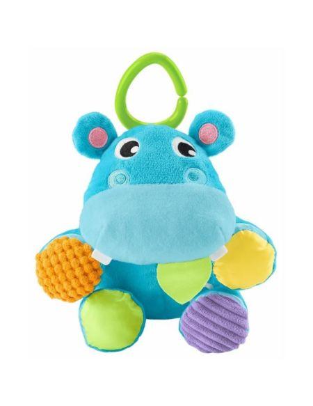 FISHER-PRICE - Mon Hippo 2-en-1 - Peluche Transformable en Balle - Dès la naissance
