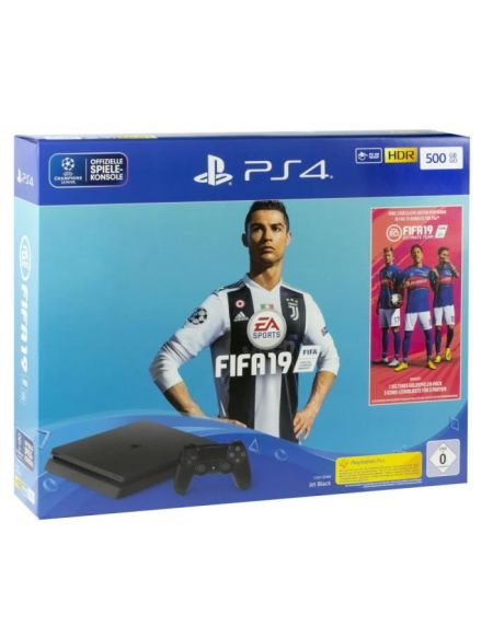Pack PS4 500 Go Noire + FIFA 19