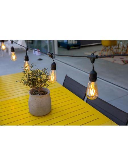 LUMISKY Guirlande décorative vintage 10 ampoules à filament sur secteur 7m