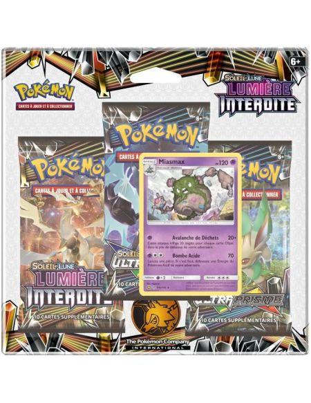 Cartes - Pokémon - Pack 3 Boosters - Soleil & Lune - Lumière interdite