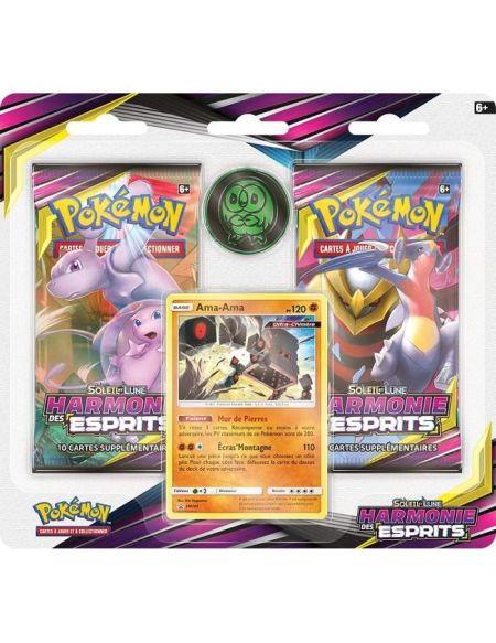 POKEMON Soleil et Lune 11 - Harmonie des Esprits -Pack 2 boosters SL11 + cartes promo - Modèle aléatoire