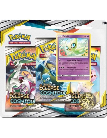 Booster - Pokemon - Pack 3 Boosters - Sl12 Eclipse Cosmique