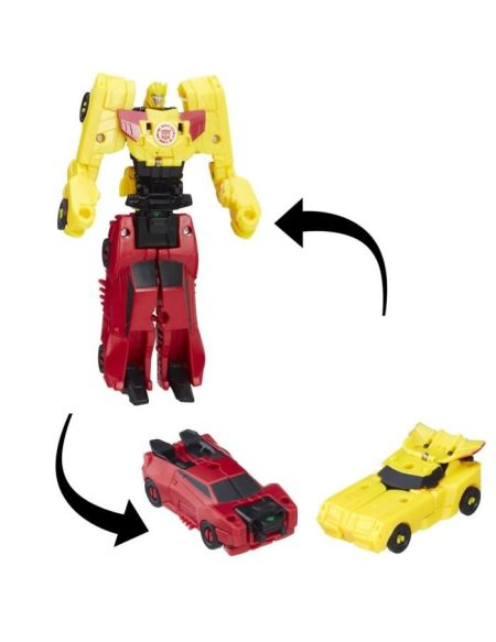 TRANSFORMERS Robots in Disguise - BUMBLEBLEE et SIDESWIPE - Combiner Force - Robot 7,5cm
